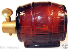 Vintage Avon Wild Country On Tap Decanter, Collectible Amber Glass Keg Bottle