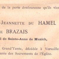 Yvonne Adele Du Hamel De Brazais Versailles 1887