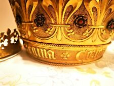 Two Museum Quality Antique Historical Brass Crowns with Gem Stones