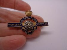 VINTAGE THE ROYAL BRITISH LEGION ENAMELLED BROOCH WITH LION WOMENS SECTION