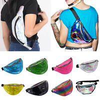 A BUM BAG FANNY PACK FESTIVAL MONEY WALLET TRAVEL HOLIDAY WAIST BELT POUCH SHINY