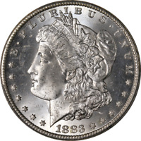 1883-CC Morgan Silver Dollar PCGS MS65 Blast White Superb Eye Appeal