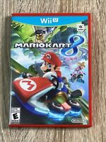 Mario Kart 8 Nintendo Wii U Game w/ Manual. Clean - TESTED 100%