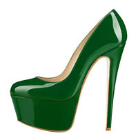 Onlymaker Womens Platform Stiletto High Heels Round Toe Basic Shoes Pumps US5-15