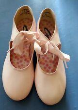 NEW Girls Capezio  Pink  Dance Tap Shoes w/Tele Tone Jr Tap- size 5.5
