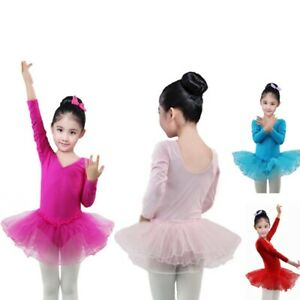 Kids Girl Ballet Tutu Dress Leotard Gymnastics Dancewear Ballerina Costume 4-11T