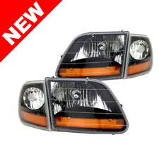 1997-2003 Ford F-150 Black Headlight Special Edition Harley Davidson Style Kit