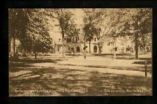 Connecticut CT postcard New Haven, Yale University law school Vintage