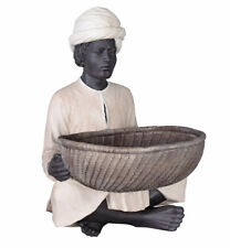 Africa Figurine Buttler Decorative Fruit Bowl Servant Turban Sculpture Vintage