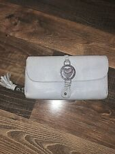 Juicy Couture Baby Blue Leather Zip Wallet/clutch