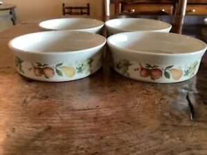 WEDGWOOD QUINCE 4 x PUDDING ENTREE DISHES MEDIUM SIZE 16cm / 6 ins VGC
