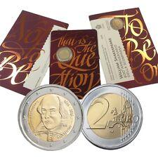 2 euro 2016 San Marino Shakespeare folder official BU