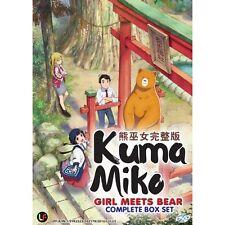Kuma Miko : Girl meets Bear Vol. 1 - 12 End Japanese Anime DVD + Free Shipping