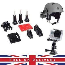 Adeguamento CURVO Adesivo Lato Casco Kit di montaggio per GoPro HD Hero 1 2 3 3+ UK