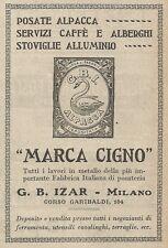 Z2024 Posate Alpacca MARCA CIGNO - G.B. Izar - Pubblicità d'epoca - Advertising