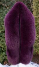 "Platinum Saga Furs Magenta Fox Fur Huge 70"" Shoulder Wrap Boa Stole Scarf"
