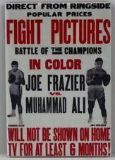 "Muhammad Ali Vs. Joe Frazier Fight Poster 2"" X 3"" Fridge / Locker Magnet."