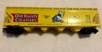 🚂Tyco Old Dutch Cleanser Acfx Train Car Covered Hopper Chlorine HO Yellow Lady