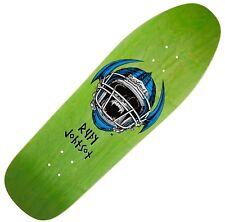 """BLIND """"Jock Skull"""" Rudy Johnson Skateboard Deck 9.875"""" GREEN 1991 Heat Transfer"""