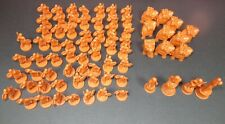 RISK GODSTORM Norse (orange colored) Armies - Complete set of 74 pieces