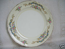 "Beautiful Edwin M. Knowles USA Pink Rose Gold Trim Floral 8 1/4"" Plate"