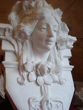 Stucco - wunderschöne große Dresdner Jugendstil - Büste aus Beton