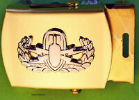 EOD Explosive Ordnance Bomb Disposal blue Web Belt & Brass Buckle