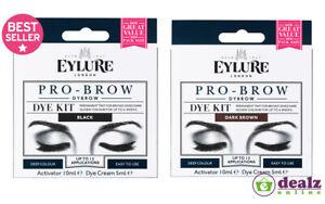 Eylure Pro Brow Dybrow Dye Kit Permanent Tint Deep Dark Glossy Colour