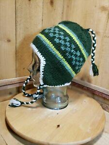 ADULT UNISEX Wool Blend Winter Beanie Hat Ear Flaps One Size Fleece Interior