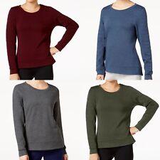 32 Degrees women's Quilted Long Sleeve Fleece Top