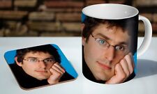 Louis Theroux Awkward Tea - Coffee Ceramic Mug Coaster Gift Set