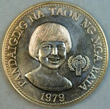 PHILIPPINES 1979 50-PISO INTERNATIONAL YEAR OF THE CHILD COMMEMORATIVE SILVER