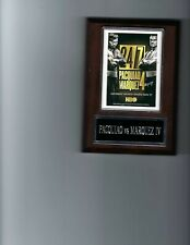 MANNY PACQUIAO vs JUAN MANUEL MARQUEZ IV PLAQUE BOXING CHAMPION PHOTO PLAQUE