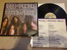 Deep Purple Machine Head 1st Press 1972 Warner Bros with lyric poster!