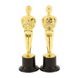 2Pcs Oscar Statuette Mold Reward the Winners Magnificent Trophies in Ceremoni TC