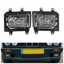 Pair GLASS foglamps foglights fogs Fog CLEAR BMW E30 facelift 1988- E marked