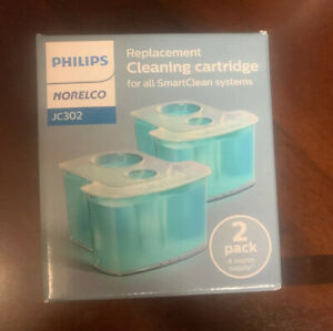 Philips Norelco Smartclean Replacement Cleaning Cartridge Shave - 2 PACK