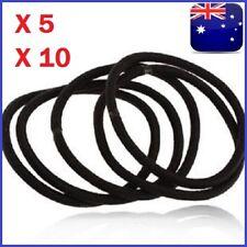 5-10pcs Elastic Rubber Black Hair Ties Hair Band Ropes Women's Ponytail Holder