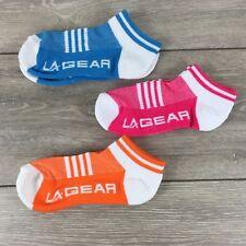 3 x La Gear Trainers Ladies Socks Sports Fitness UK 4-8 EU 37-42 A362-2