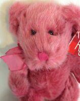 "Russ Berrie Teddy Bear Purple Pink Plush LUV'UMS Luvums Stuffed Animal 8"""