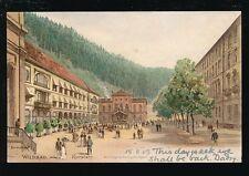 Germany WILDBAD Kurplatz Used 1903 u/b PPC mailed from fine postmark
