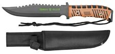 """13"""" Zombie Killer Tactical Knife Serrated 440 Stainless Steel Blade w/ Sheath OB"""