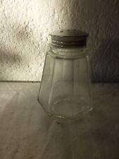 ancienne saupoudreuse sucre en verre vintage cuisine retro