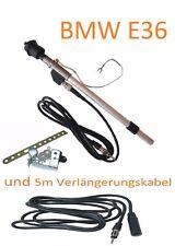 BMW E36 Kotflügel Antenne Teleskopantenne DIN-Stecker und 5m Verlängerung SET