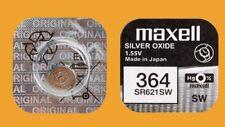 40 x Maxell 364  Batterie Knopfzelle SR621SW SR621 SR60 20 mAh  AG1  1,55V
