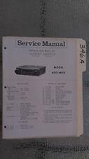 Boman? Astro line 600mpx service manual original repair book stereo am car radio
