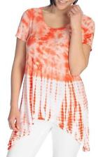 NEW - OSO Casuals® Tie-Dyed Knit Short Sleeved Scoop Neck Sharkbite Top - 1X