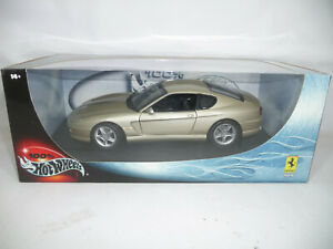 u628 1999 FERRARI 456 M CHAMPAGNER 1:18 HOT WHEELS VERY RARE