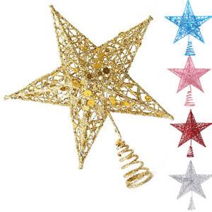 Weihnachtsbaum Weihnachts Dekoration Sterne Weihnachtsstern Gold Silber Advent