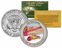 THE SPOONPLUG * Collectible Antique Fishing Lures * JFK Half Dollar US Coin COA